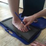 足 靴 体重 重心 フットプリント 計測